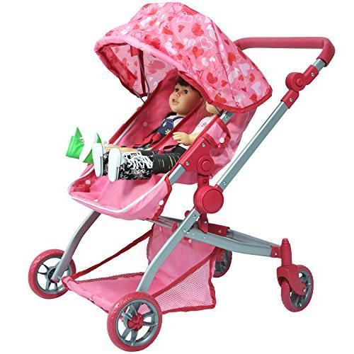 deluxe twin stroller hearts mega
