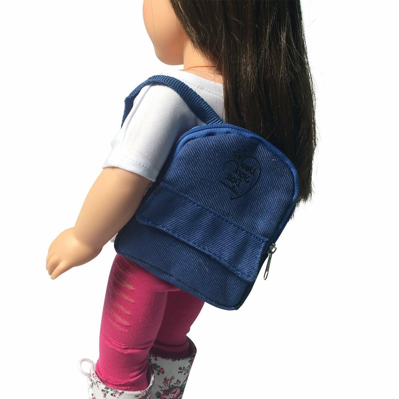 denim doll backpack for 18 inch doll