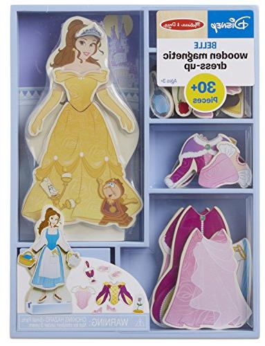 disney belle magnetic dress wooden