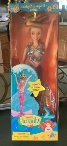 Disney The Little Mermaid Tropical Splash Attina Doll  1997