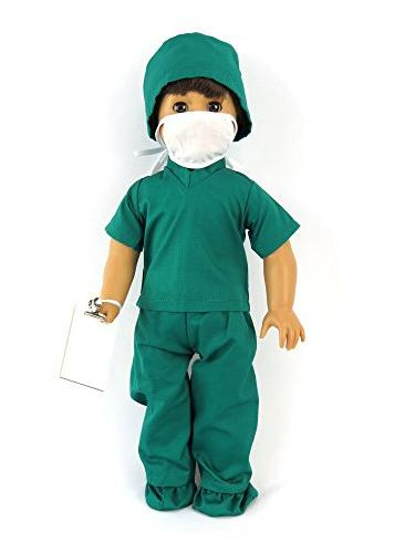 Doctor pc | Inch Doll Clothes Complete Lab Medical Covers, Cap, and