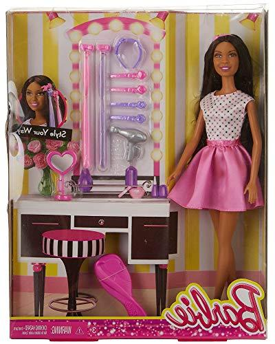Barbie Doll with Hair Accessory, African-American