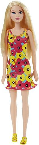 Barbie 12 Inch Fashion Doll - Yellow and Pink Flowers Floral