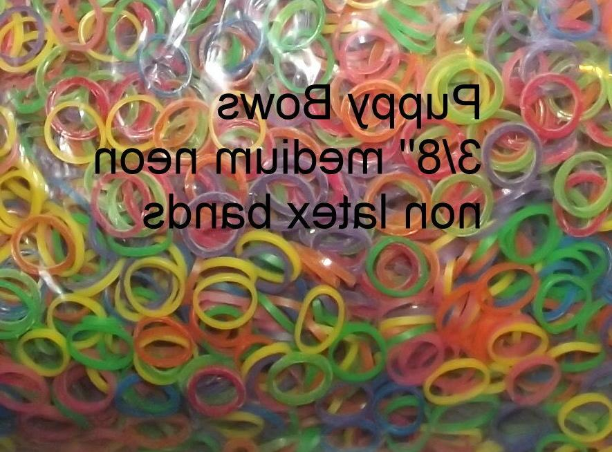doll hair rubber bands craft multi color