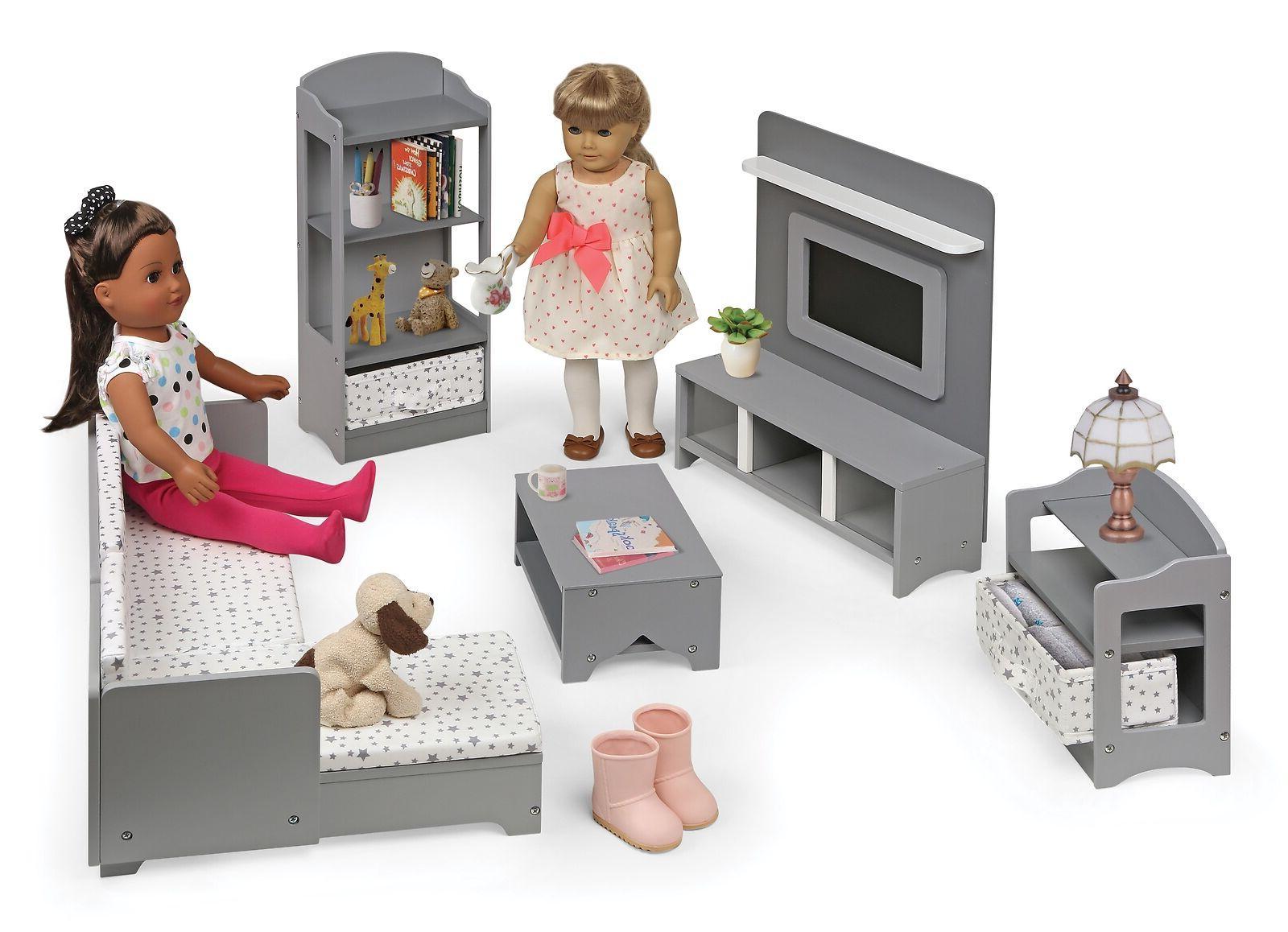 doll house furniture set fits 18 dolls