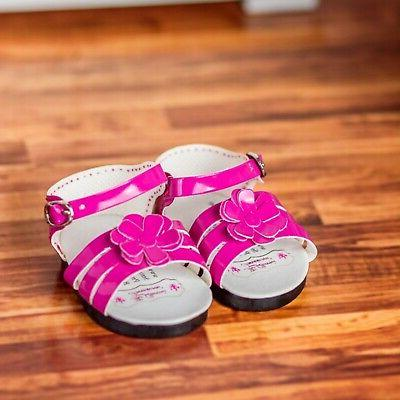 "18"" Doll Pink Strappy Sandal Shoes +Box Fits American Girl C"