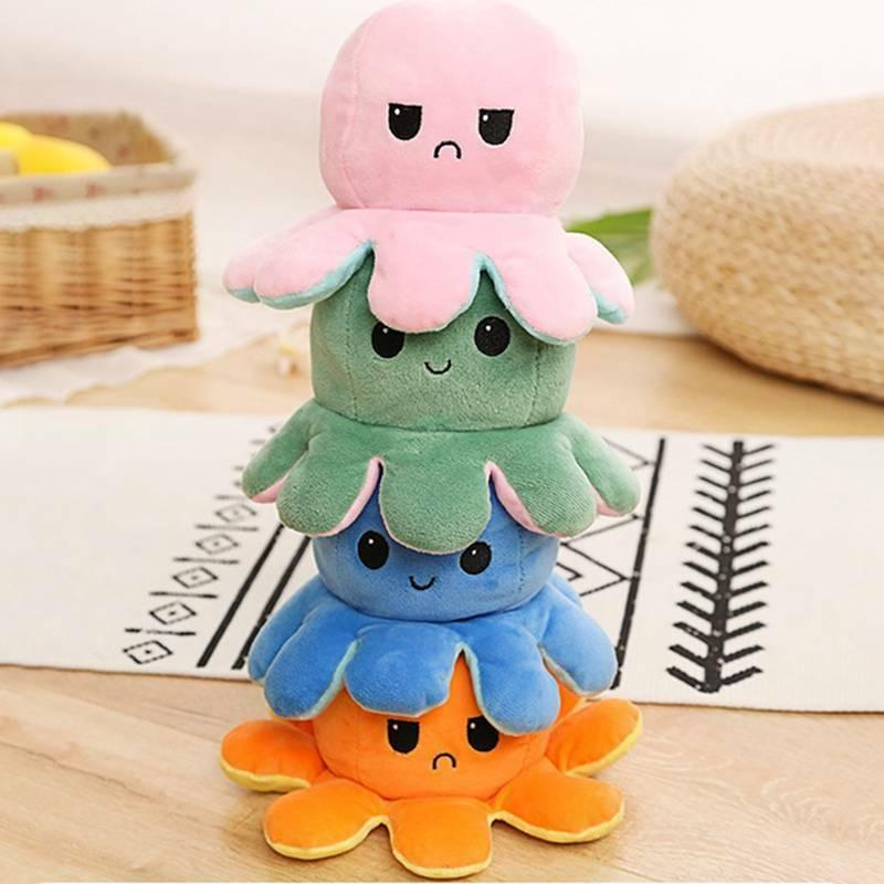 1X Face Changing Double-Sided Toy Octopus Doll grewa