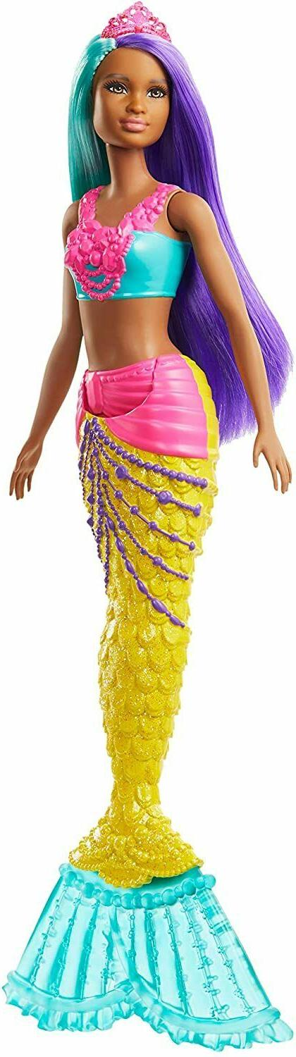 Barbie Dreamtopia Mermaid Doll, 12-inch, Teal and Purple Hai