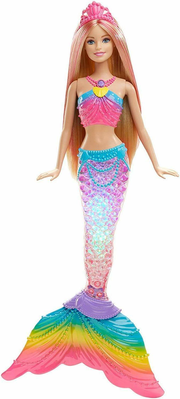 dreamtopia rainbow lights mermaid doll blonde free