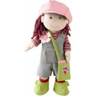 HABA Doll Hair, Brown Eyes Courdoroy Overalls