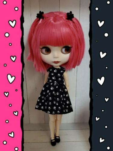 factory type neo blythe doll pink hair