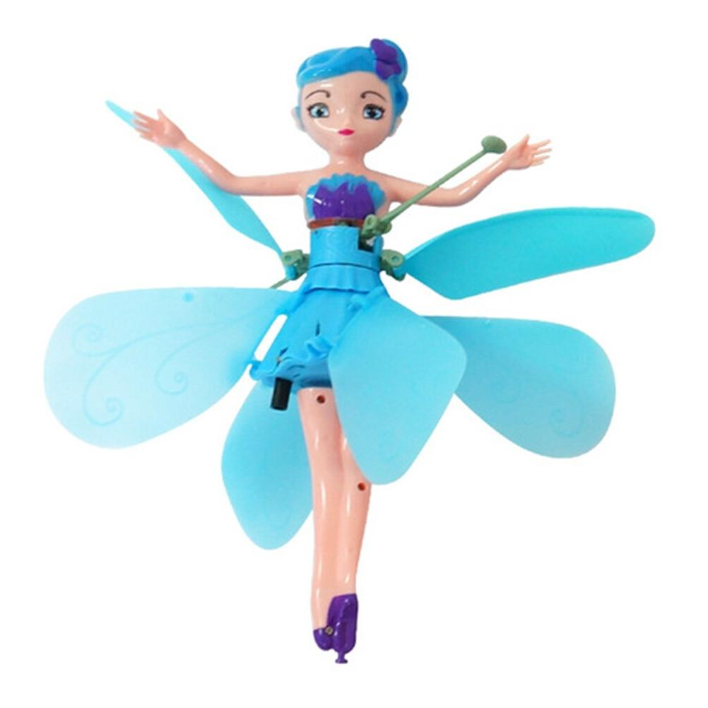 Fairy Children's New Flower Fairy Flying Machine Gesture Sensing Flitter <font><b>Dolls</b></font> For Kids xmas