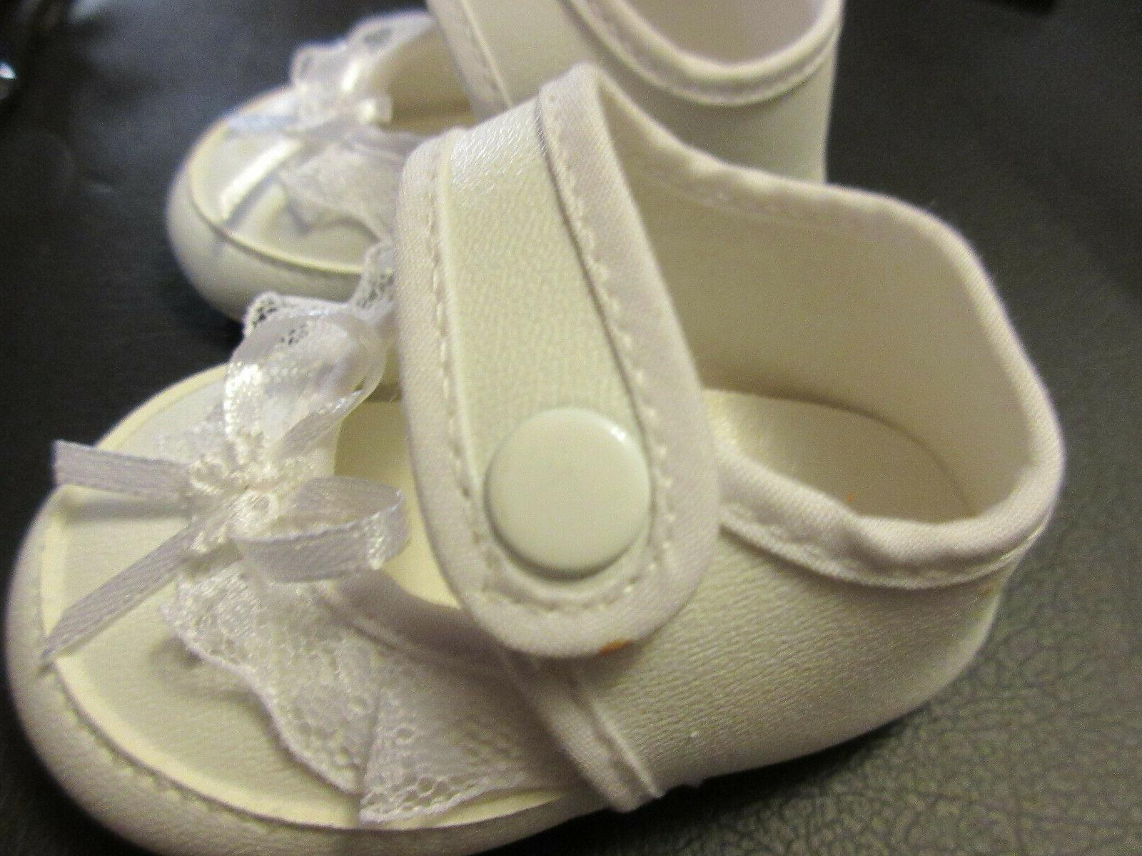 """Fancy Doll Shoes w Snaps 3"""" Long"""