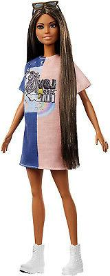 Barbie Fashionistas Doll 103 - Brunette with Color-Blocked D