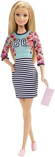Barbie Fashionistas Doll Floral Top and Striped Skirt - Orig