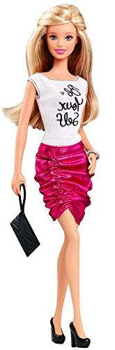 Barbie Fashionistas Doll, Pink Skirt and Be Yourself Shirt