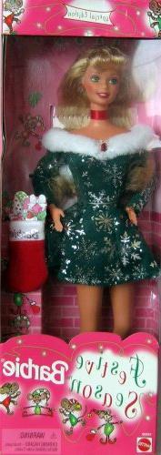Festive Season Barbie  Special Edition #18909 1998 NRFB