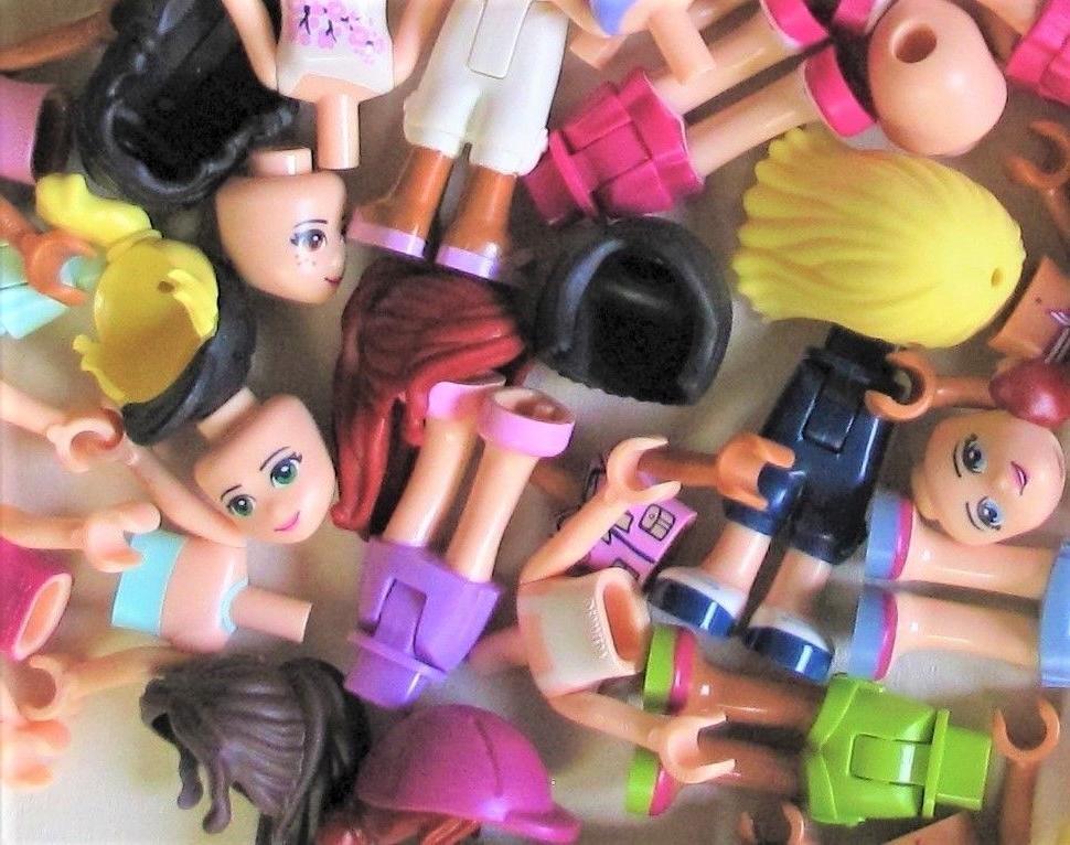 LEGO HUGE BULK MINIFIG PARTS LOT U Mini-Dolls 80 pcs/