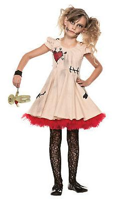 Girls Voodoo Doll Dress Kids Zombie Dress Seeing Red 40101