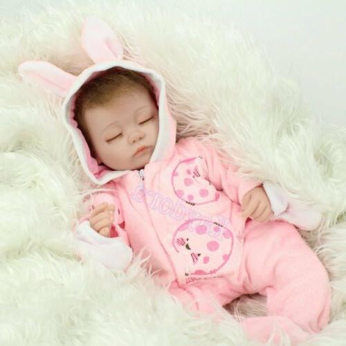 "Handmade Lifelike 16"" Sleeping Newborn Reborn Baby"