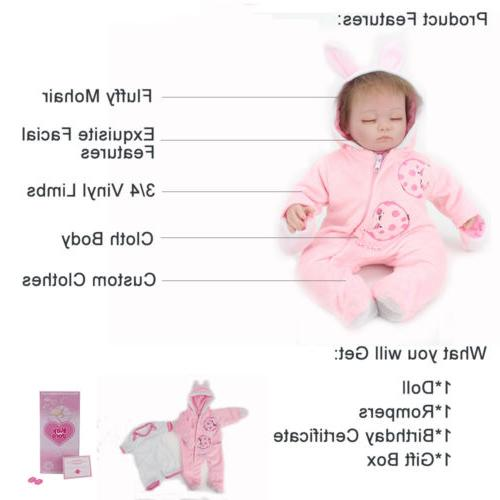 Handmade Reborn Real Silicone Girls Gift