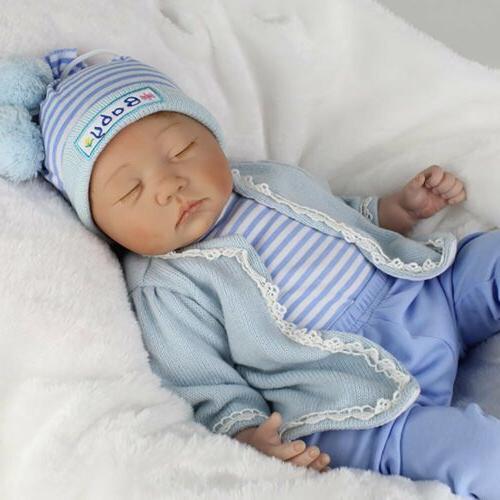 Lifelike Reborn Newborn Dolls 22inch Vinyl Silicone Baby Boy