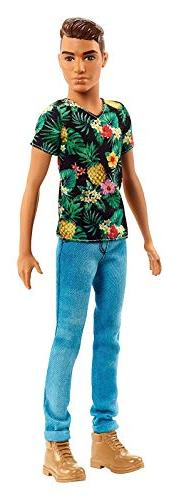 Ken Fashionistas Doll #15 Tropical Vibes – Slim Hispanic -