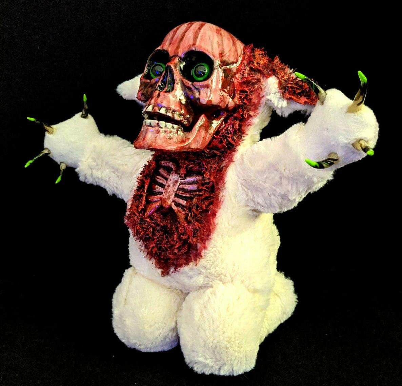 Kneeling Zombie Teddy Bear Halloween Decoration Horror