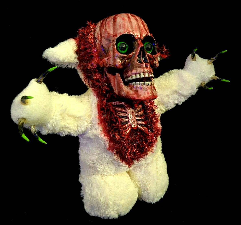 Kneeling Teddy Halloween Decoration Horror