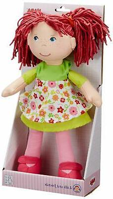 """HABA Liese 12"""" Soft Doll with Blue and Pigtails"""