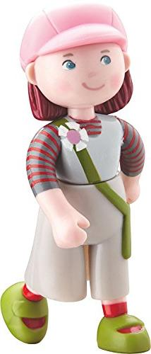 "HABA Little Friends Elise - 4"" Bendy Girl Doll Figure with P"