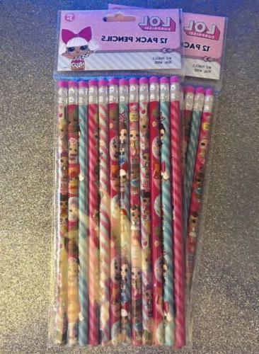 lol surprise pencils 2 12 packs