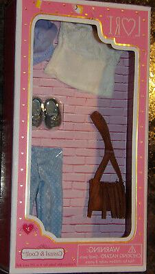 """Lori Casual & Cool Outfit w Purse Shoes & Scarf for 6"""" Dolls"""