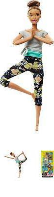 Barbie Made to Move Dolls Yoga Girl Brunette Inspire, BRAND