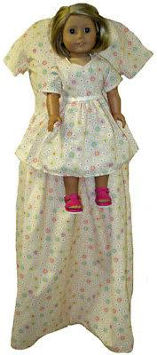 Matching Flower Dresses for Girl and Dolls Size 6