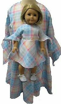 Matching Plaid Dresses for Girl and Dolls Size 6