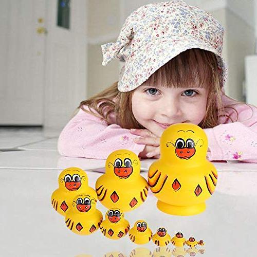 Childplaymate Dolls Dog Type Handmade Russian Nesting Birthday for Kids