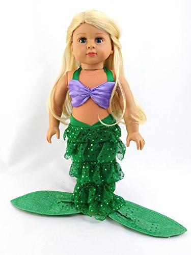 "Mermaid Shell Bikini Top Mermaid 18"" Madame Alexander, etc. Doll Clothes"