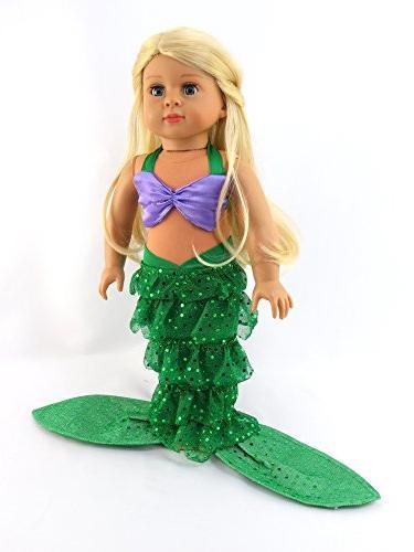 "Mermaid Bikini Top Mermaid 18"" Madame etc. 18"