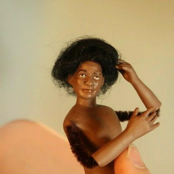 miniature porcelain dollhouse doll man husband black