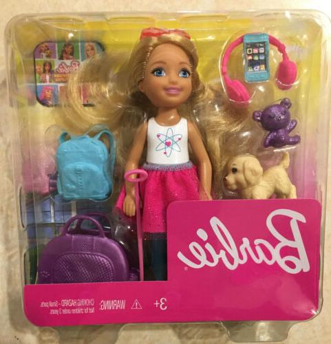 new chelsea blonde travel doll with puppy