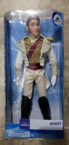 "New Disney Store Prince Hans Frozen 12"" Classic Doll"