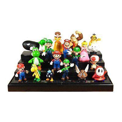 Super Mario Bros Lot 18 pcs Action Figure Doll Playset Figur