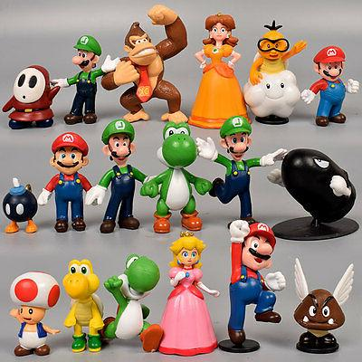 NEWEST Super Mario Bros Lot 18pcs Action Figure Doll Playset
