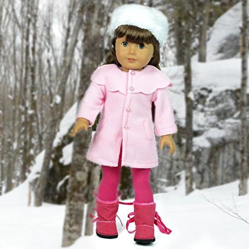 The Collection Beautiful with Fur Hat Fits 18 American Dolls