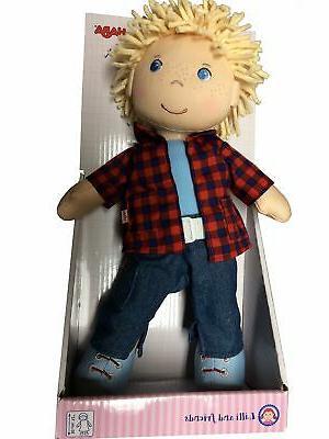 "HABA Nick 12"" Boy Doll Hair, Eyes Embroidered"