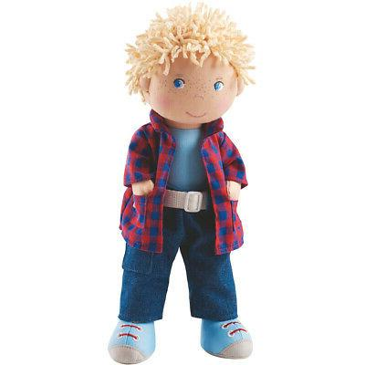 "HABA Nick 12"" Soft Boy Doll with Blonde Hair, Blue Eyes and"