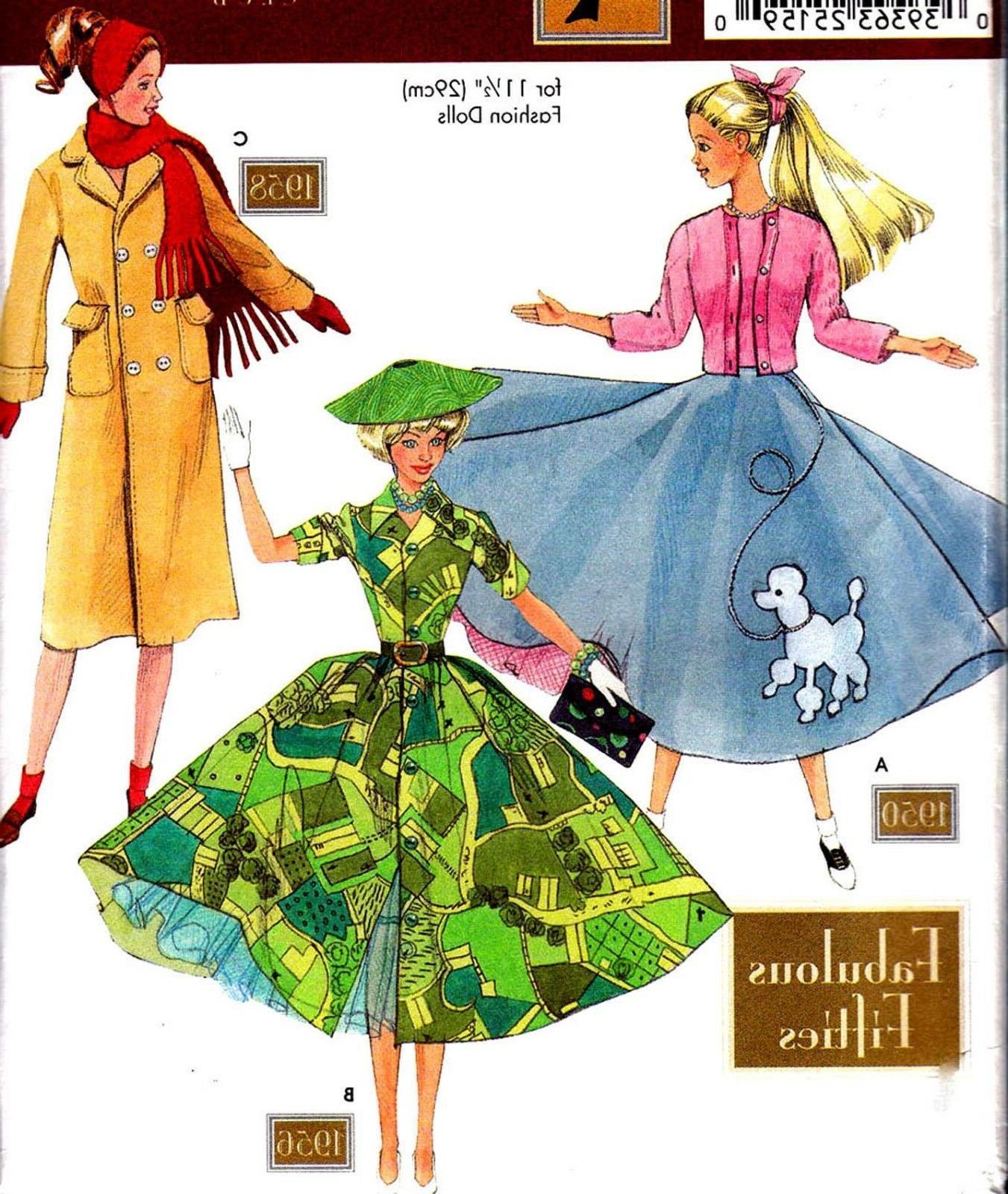 oop 1112 dolls fabulous 1950s retro clothes