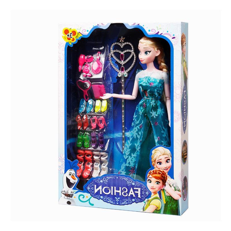 Anna And Elsa Boneca Elsa Fever For Girls Toys Child