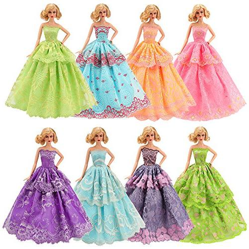 BARWA 5 Pcs Handmade Doll for inch Dolls